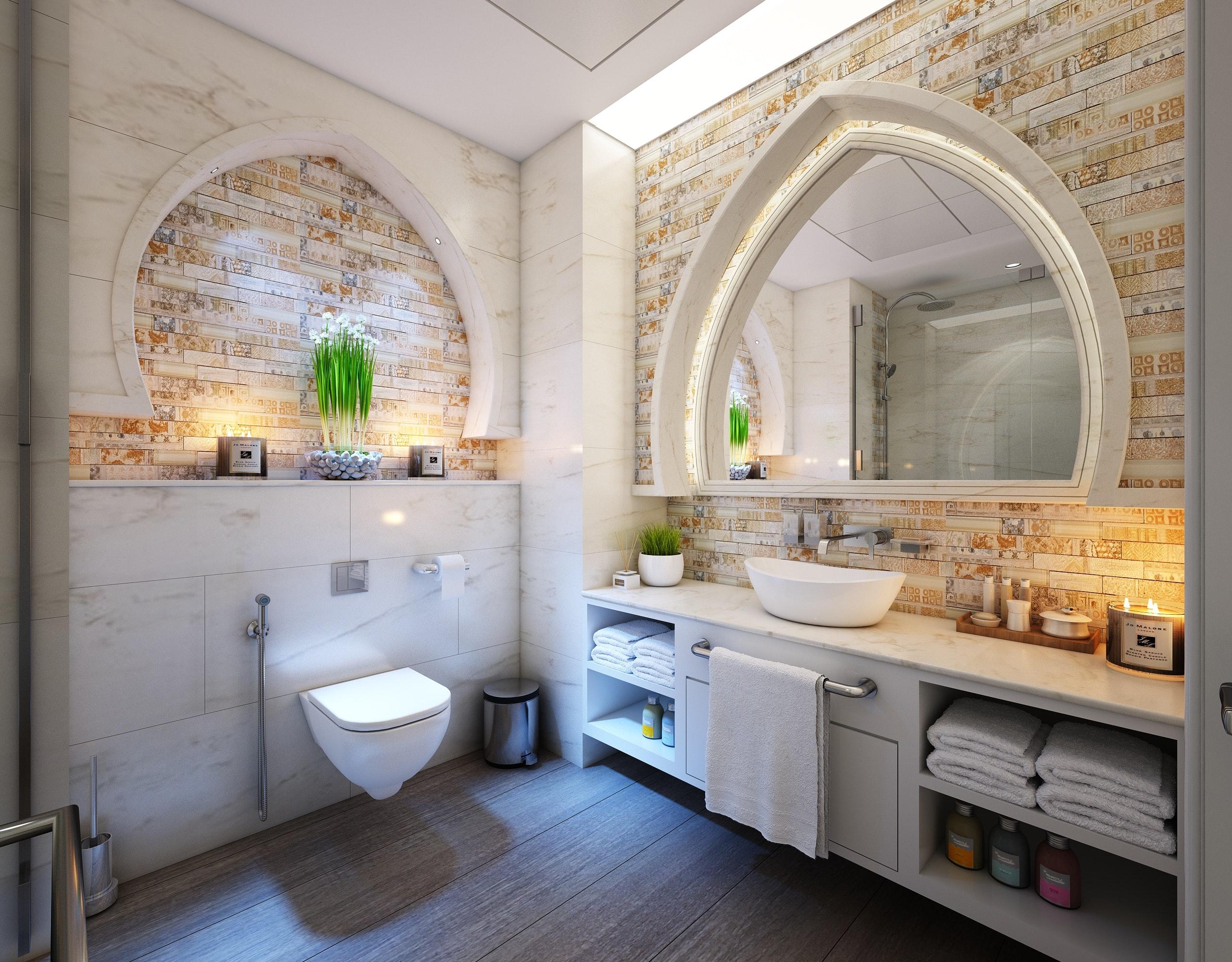 Ett lyxigt badrum